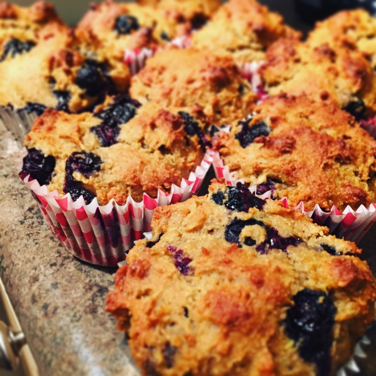 Blueberry Avocado Muffins