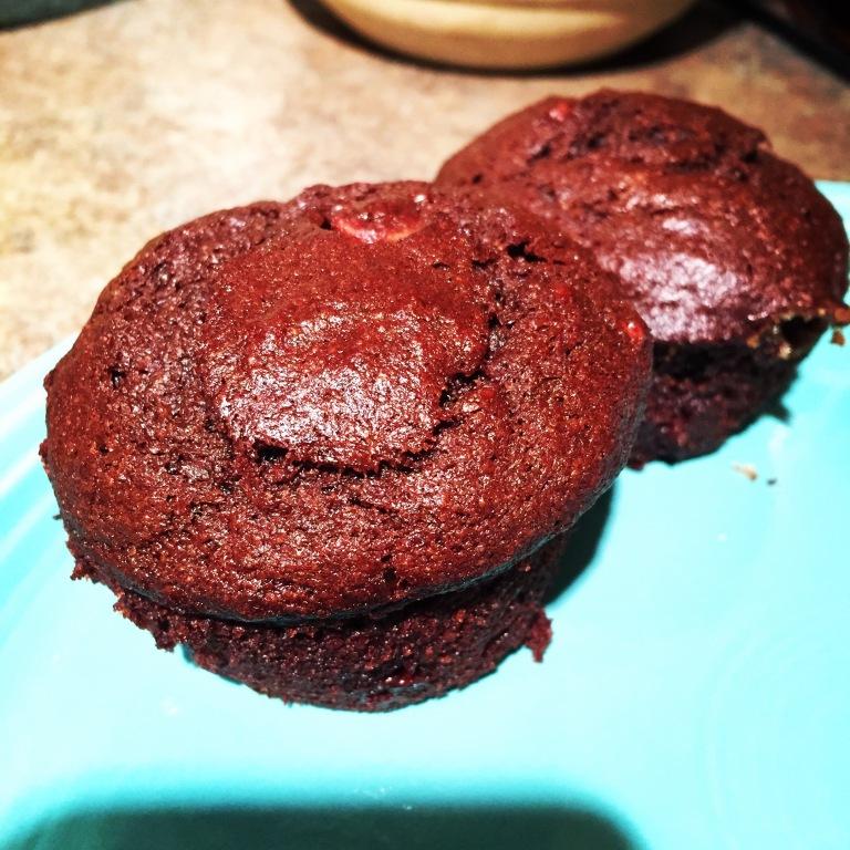 banana chocolate chocolate chip muffins
